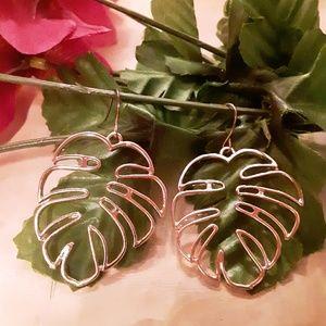 Exotic Island Montero Leaf  Earrings